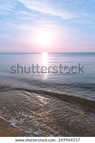 Morning sunup at the beach - stock photo