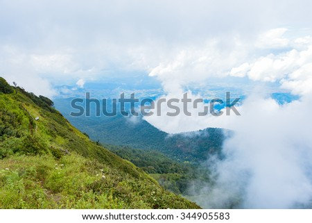 Morning View of Great Smoky Mountains National Park - stock photo