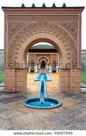 Moroccan architecture at Putrajaya, Malaysia - stock photo