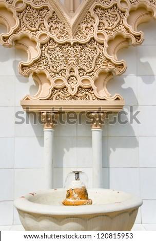Moroccan architecture traditional design at Putrajaya, Malaysia - stock photo