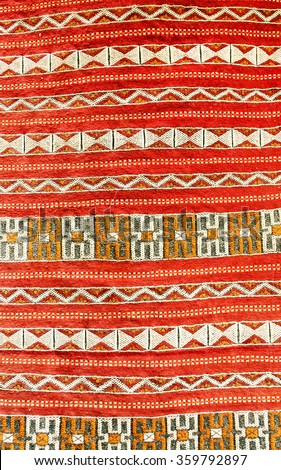 Moroccan carpet background - stock photo