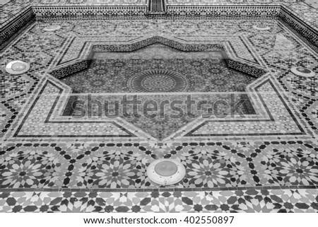 Moroccan fountain. - stock photo
