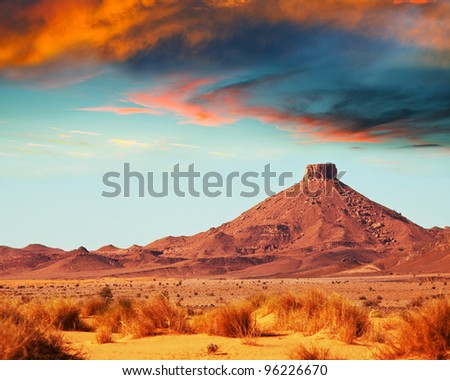 moroccan landscapes - stock photo