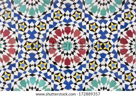 Moroccan mosaic as background - stock photo