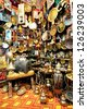 Moroccan souvenir shop - stock photo