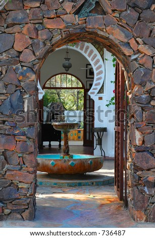 Moroccan style entryway - stock photo
