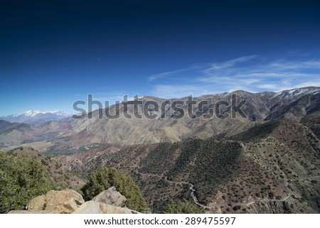 morocco atlas landscape - stock photo