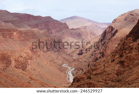 Morocco. Canyon Todra in the Atlas mountains - stock photo