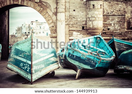 Morocco Essaouira UNESCO World Heritage Site - stock photo