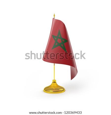 Morocco Flag Detail Render - stock photo