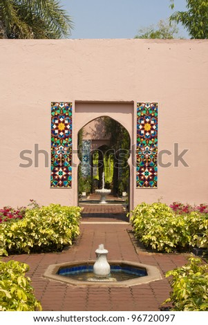 Morocco gate - stock photo