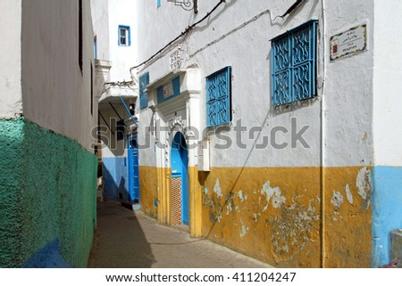 Morocco, Tanger, old town - stock photo