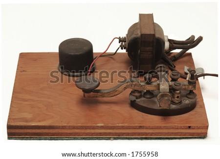 morse code telegraph station - stock photo