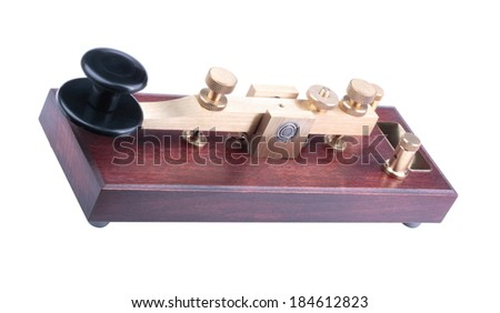 Morse Key Isolated - stock photo