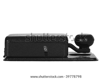 morse key isolated on white background (side view) - stock photo