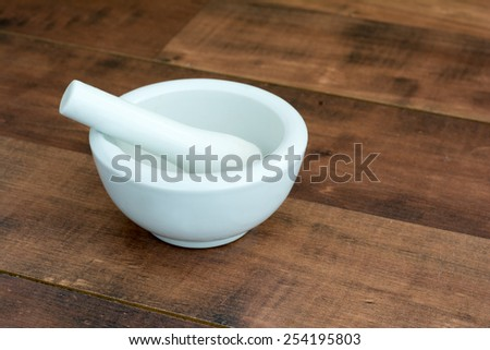 Mortar and pestle mortar and pestle - stock photo