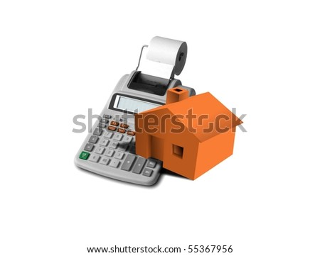 mortgage and down payment - stock photo