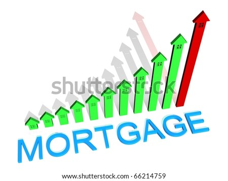 Mortgage graph - stock photo