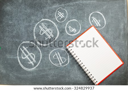 Mortgage house for sale on the black backboard. - stock photo