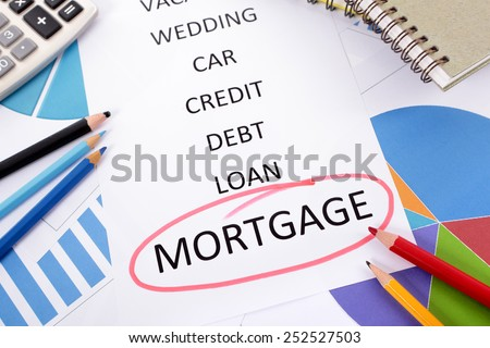 Mortgage planning. - stock photo