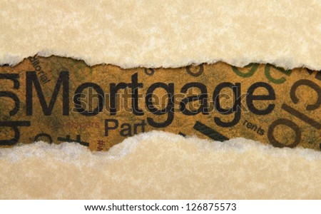 Mortgage torn paper - stock photo