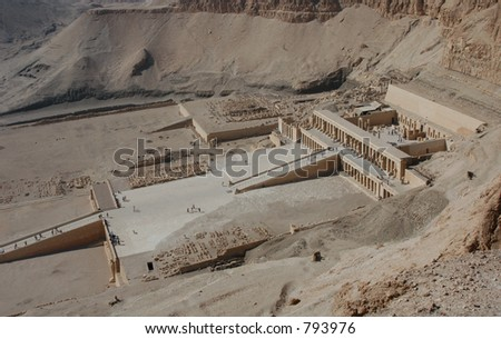 Mortuary temple of Queen Hapshepsut, one of the few female pharaohs, near Luxor (Thebes), Egypt - stock photo