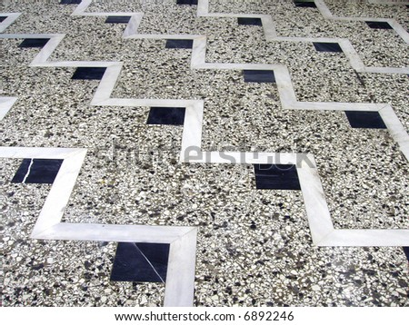 mosaic and marble floor - stock photo