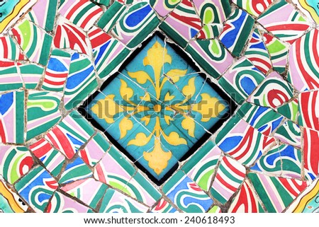 Mosaic Decorative Background  - stock photo