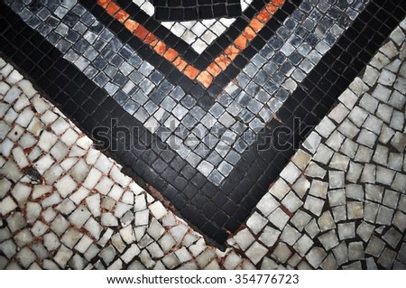 mosaic floor design manchester british marble historical beauty - stock photo