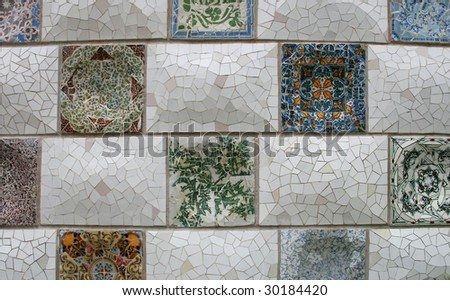 Mosaic from Park Guell, Barcelona - stock photo