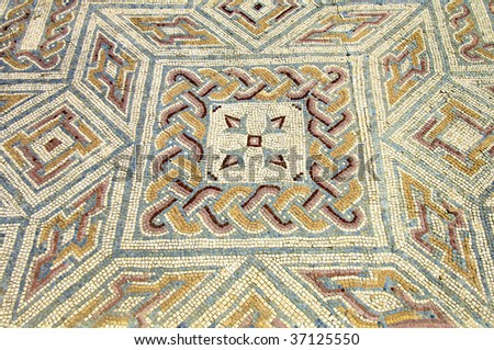 mosaic in the Roman ruins of Conimbriga - stock photo