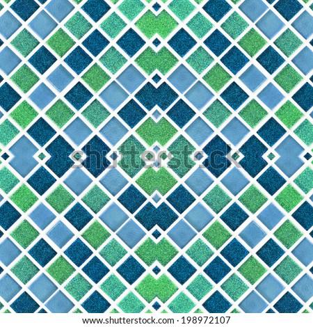 Mosaic tiles colorful ceramic pattern background - stock photo
