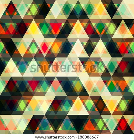 mosaic triangles seamless pattern (raster version) - stock photo