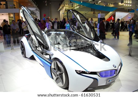 MOSCOW - AUG 26: BMW Vision The Moscow international motor show 2010 on August 26, 2010 in Moscow, Russia. - stock photo