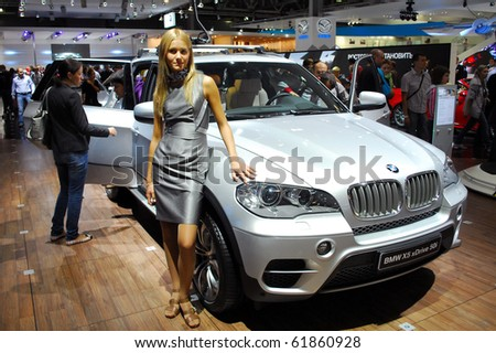 MOSCOW - AUG 26: BMW X5 xDrive 50i at Moscow international motor show 2010 on August 26, 2010 in Moscow, Russia. - stock photo