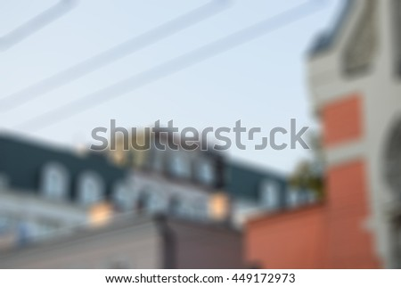 Moscow evening walk theme creative abstract blur background with bokeh effect - stock photo