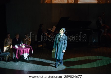 MOSCOW - FEBRUARY 27: The dancer Alexander Pukhov musical dance show Tango de Buenos Aires in the Chamber Hall of the Moscow House of Music on February 27, 2015 in Moscow, Russia. - stock photo