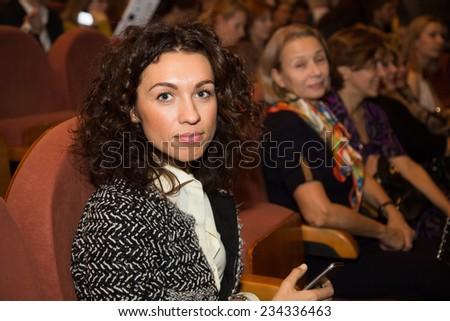 "MOSCOW - NOVEMBER, 26: Sofia Gudkova. Festival of  Contemporary choreography ""Context. Diana Vishneva"" at The Theatre of Mossovet. November 26, 2014 in Moscow, Russia - stock photo"