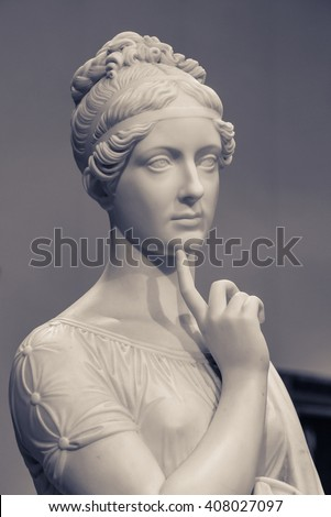Moscow, Russia - February 16, 2016: Statue in Pushkin Museum - stock photo