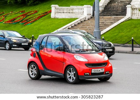 MOSCOW, RUSSIA - JUNE 3, 2012: Motor car Smart Fortwo at the city street. - stock photo