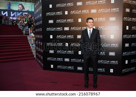 """MOSCOW, RUSSIA, May, 13: Director Simon Kinberg. Premiere of the movie """"X-Men"""", May, 13, 2014 at Rossiya Cinema in Moscow, Russia - stock photo"""