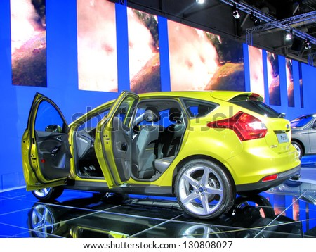 MOSCOW, RUSSIA - SEPTEMBER 1: Ford Focus presented at the Moscow International Autosalon on September 1, 2010 in Moscow, Russia. - stock photo