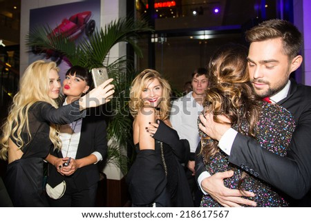 MOSCOW, RUSSIA, September, 20: Via Gra Music bang. Opening Restaurant Afterparty, September, 20, 2014 at Vegas  Center in Moscow, Russia - stock photo
