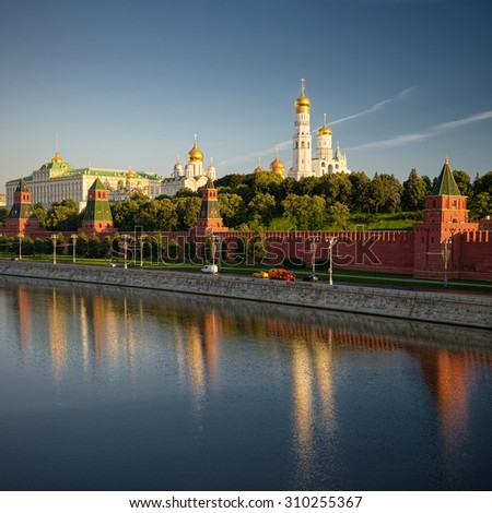 Moscow, Russia, view of the Kremlin and Red Square. The main attractions of the city. Travel. Countries and cities - stock photo