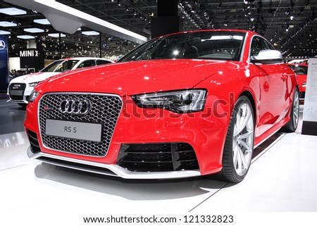 MOSCOW-SEPTEMBER 1: Audi RS5 coupe at the international exhibition of  the automobile industry Moscow international automobile salon MIAS on September 1, 2012 in Moscow - stock photo