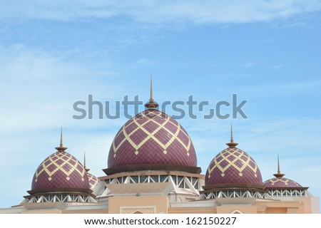 Mosque Baitul Izzah Tarakan, Indonesia - stock photo