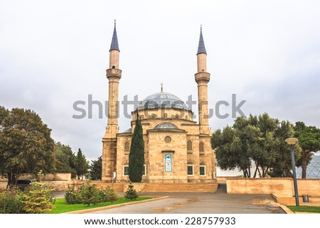 Mosque in Baku, Azerbaijan in the morning - stock photo