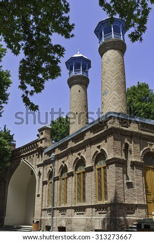 Mosque in Gyandzha Azeri style - stock photo