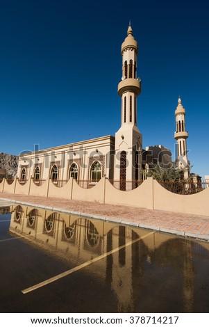 Mosque in Khasab, Musandam peninsula, Oman, Arabia - stock photo
