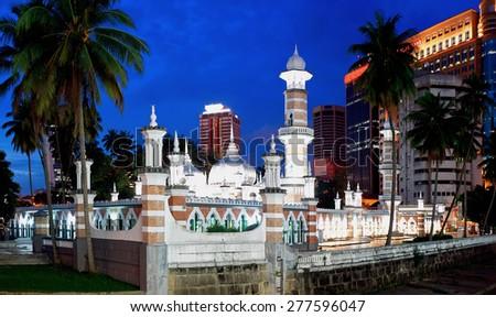 Mosque Masjid Jamek in Kuala Lumpur, Malaysia - stock photo